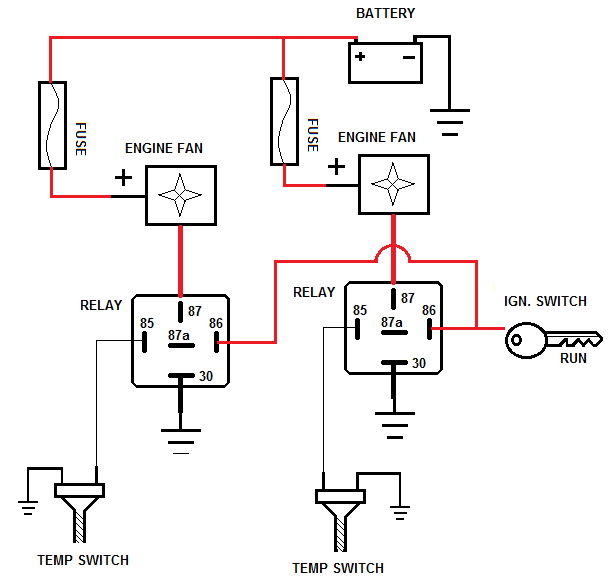 2 sd dual fan relay wiring diagram