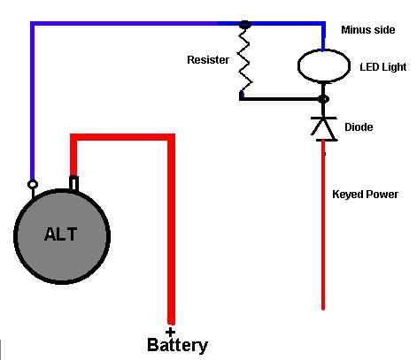 Alternator light wiring auto wiring diagram today alternator trouble shooting rh hubbardhobbies com alternator indicator light wiring alternator charge light wiring diagram asfbconference2016 Image collections